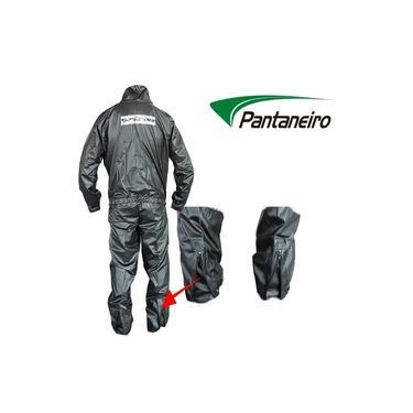 Capa Roupa Chuva Vestimenta Vestuário Jaqueta Calça Pantaneiro Nylon Preta Moto Motoqueiro