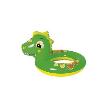 Boia Circular Inflável Infantil de Dinossauro 60x50cm Até 35kg