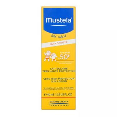 Protetor Solar Infantil Mustela Bébé-Enfant Rosto FPS 50 Loção 40ml MUSTELA
