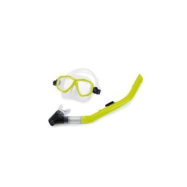 Kit De Máscara E Snorkel Ocean Mormaii / Limão