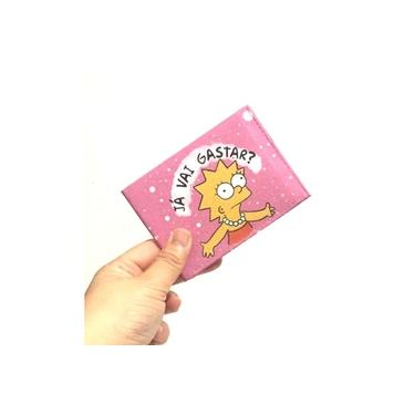 Carteira Slim Lisa Simpson Rosa