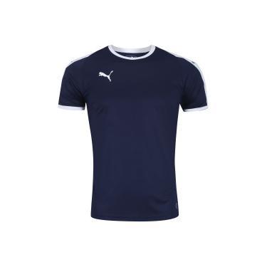 93706c960b358 Blusa Esportiva Puma Camiseta Azul   Moda e Acessórios   Comparar ...