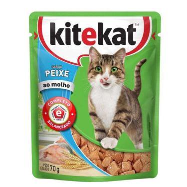 Ração Kitekat Sachê Peixe para Gatos Adultos - 70 g