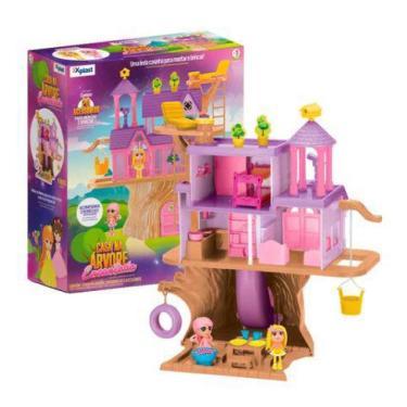 Imagem de Brinquedo Casinha De Boneca Casa Na Arvore Encantada Xplast - Homeplay
