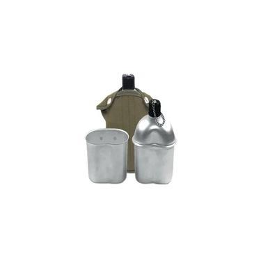 Cantil De Aluminio Com Caneca E Capa - Echolife Verde Oliva