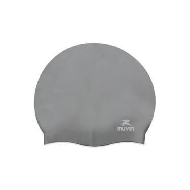 Touca De Natação Em Silicone Slim - Prata - Muvin Tcs-300