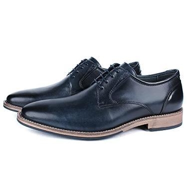 Sapato Masculino Vulcano em couro 4302 Elba Blue Savelli (38)