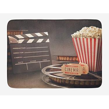 Imagem de Tapete de porta para entrada interna, cinema, tapete de banheiro, objetos de entretenimento de moda antiga, tema de filme, imagem de filme, tapete de decoração de banheiro, decoração de casa, presente de boas-vindas, 50,8 x 81,2 cm