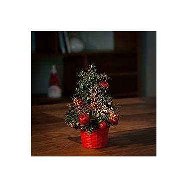 Árvore de Mesa Decorada Já é Natal 21cm - Orb Christmas