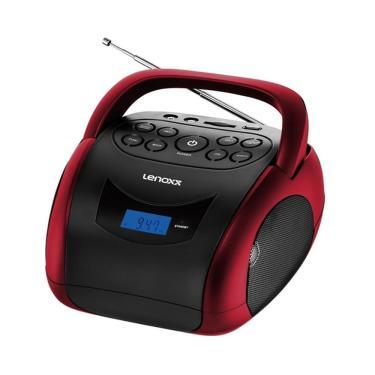 Radio Lenoxx BD150 BT/USB/FM - Preto com Vermelho