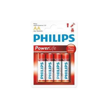 Bateria Powerlife alcalina Pequena AA com 4