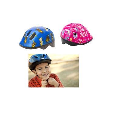 Capacete Infantil Com Ajuste 6 Furos Para Bike Skate Patins Menino Menina Ciclismo Bicicleta