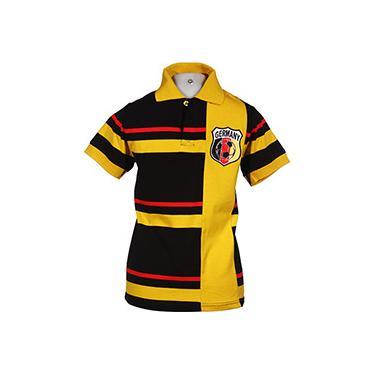 Camisa Pólo Listrada Fio Tinto Alemanha - FIFA 39fd335f5be5d