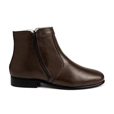 Bota Social Hb Agabe Boots - 400.002 - Pl Cafe - Solado de Borracha Bota Social Hb Agabe Boots - 400.002 - Pl Cafe - Numero:37