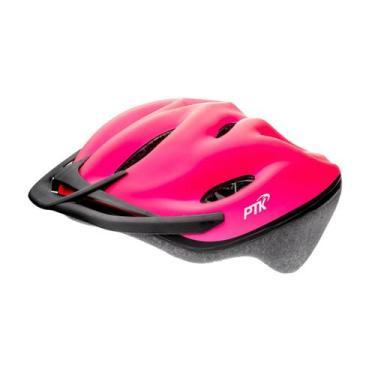 Capacete Ciclismo Ptk Mtb Bike apoio De Nuca Pódium Rosa