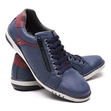 Imagem de Sapatenis Sapato Tenis Masculino Casual Ziper MOD 717 (42, Azul)