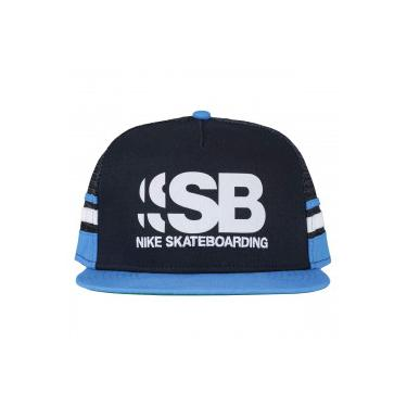 Boné Aba Reta Nike SB Cut - Snapback - Trucker - Adulto - AZUL ESC  ad6bd5f729c