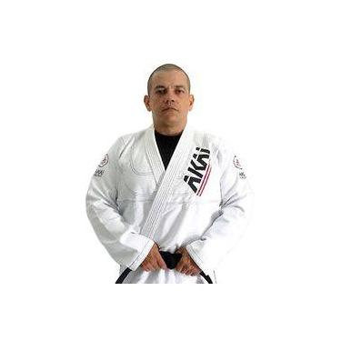 Kimono Jiu Jitsu Akai Pro Bjj - Trançado Branco