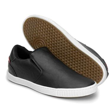 Sapatênis Tênis Masculino 13005 Sapato sem Cadarço (43, Preto)