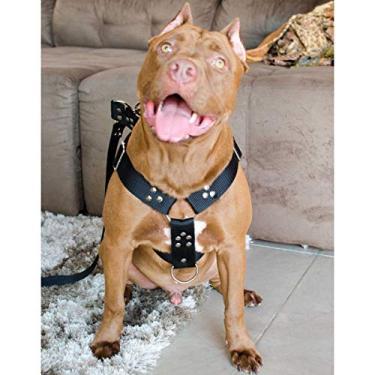 Coleira Peitoral Cachorro Guia Adaptador Cinto Segurança Tamanho G - Cor Preta