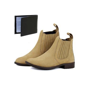 Bota Botina Chelsea Magi Shoes Moderna Brinde Areia masculino 7e9357addf3cc