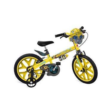 Bicicleta Aro 16 Bandeirante Transformers - Amarela