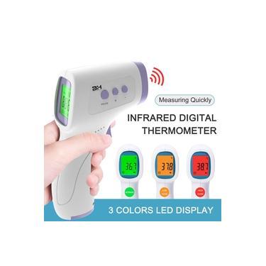 Sem contato Termômetro Infravermelho de Temperatura da Testa Leitura Segura de 1 segundo Termômetro Infravermelho IR Termômetro de Alta Precisão Medição de Temperatura na Testa LCD