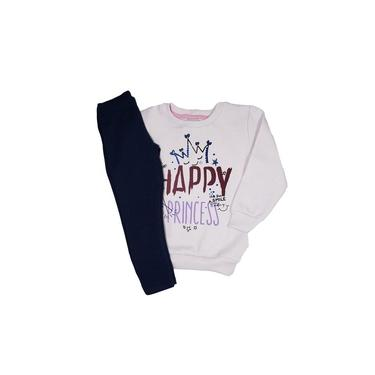 Conjunto Moletom Infantil Happy Pricess Lilás - Albatex 3