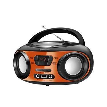 Rádio Boombox Mondial BX-18, Entrada USB, Auxiliar, CD Player, Conexão sem Fio, Rádio FM, Função Folder e 8W RMS