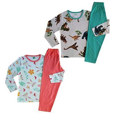 Kit com 3 Pijama Infantil Menina ou Menino- Algodão - 1 ao 16