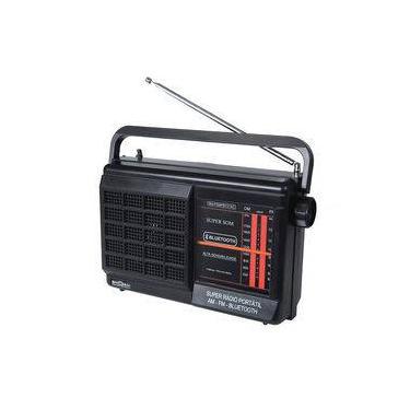 Rádio Portátil Motobras 1W Rms Bluetooth com 2 Faixas, Sintoniza Am e Fm  Rm-Psmpbt-21AC