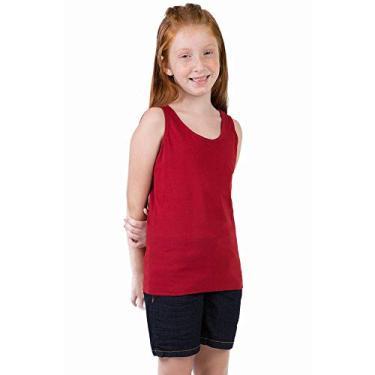 4f4410c238399 Regata Básica Infantil Feminina Vermelho Vermelho 06