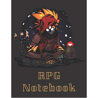 """RPG Notebook: Trinket Wagon Darkest Dungeons Edition - Mixed paper: Hexagon, Dot Graph, Dot Paper, Pitman: For role playi ng gamers: Notes, tracking, ... plans (8.5"""" x 11"""" - A4 Size, 150 Pages)"""