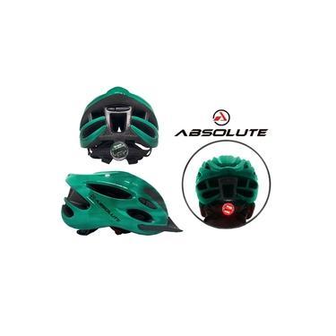 Imagem de Capacete de Ciclismo Absolute Nero Verde C/Sinalizador Led