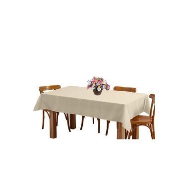 Imagem de Toalha de mesa 8 Lugares 2,45m Retangular Oxford Liso Bege