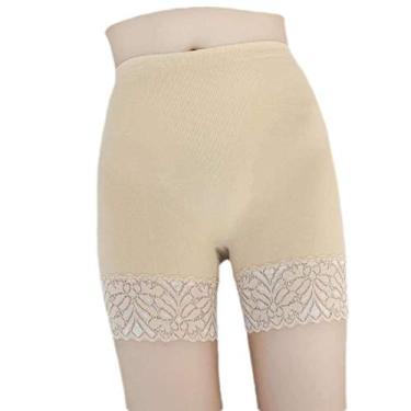 Calça legging feminina elástica Fubotevic, 2 unidades, com acabamento em renda, shorts, 3, One Size