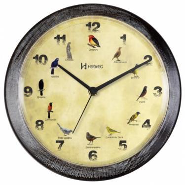 Relógio 6658 Parede Canto De Pássaros Brasileiros Herweg