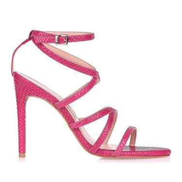 Sandália Salto Alto New Snake Berry Uza Shoes (38, salto alto)