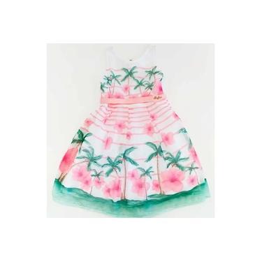 Vestido Manga Curta Listrado Floral Bugbee Ref:6584 4/8