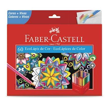 Lápis de Cor, Faber-Castell, EcoLápis, 120160G, 60 Cores