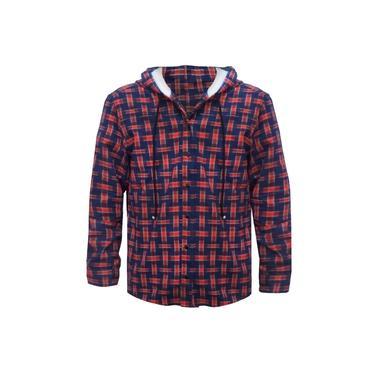 Camisa Flanelada Mormaii Adventure Xadrez Bordo com Capuz