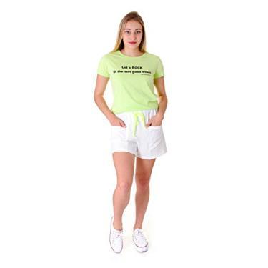 Shorts Feminino Operarock Esportivo Off White