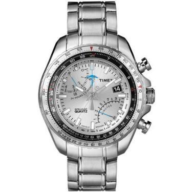 2561311238c Relogio Masculino Timex Analogico Cronografo - T2p104pl ti - Prata