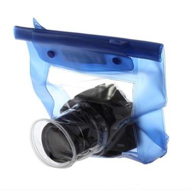 Bolsa à prova d'água para câmera digital DSLR SLR DSLR DSLR Estojo para ambientes externos subaquáticos, bolsa seca para Canon para Nikon