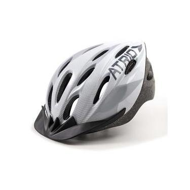 Capacete para Ciclismo Bike Átrio Mtb 2.0 com Viseira Cinza e Branco Tamanho G - BI165