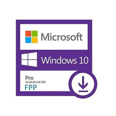 Licença Microsoft Windows 10 Professional 32/64 Bits FPP