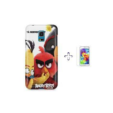 Kit Capa Case Tpu Galaxy S5 Mini Angry Birds + Película De Vidro (Bd01)