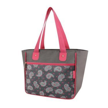 Bolsa Shopper Tam. G Estampada Jacki Design Classic Cinza Ameba  feminino