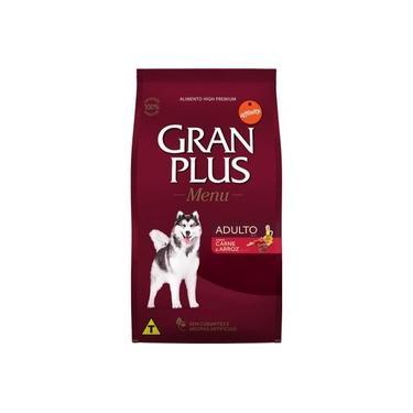 Ração Gran plus Menu para Cães Adultos Raças Médias sabor Carne e Arroz 20kg