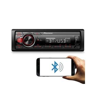 Rádio Automotivo Pioneer MVH-S218BT Som Bluetooth MP3 Player 1 Din Android Media Receiver USB AUX FM